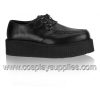 V-Creeper-502 Black Faux Leather
